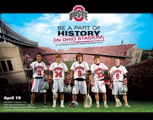 COLUMBUS, Ohio – The Ohio State men's lacrosse team will face off against Denver in Ohio Stadium April 19, Joe Breschi, Buckeye head coach.