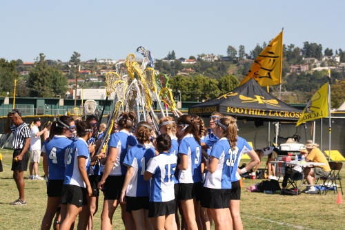 Cate School Varsity Girls Lacrosse led Foothill Knights 6-3 at halftime...