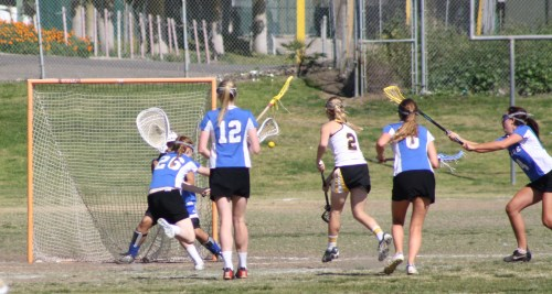 The Foothill Lady Knights lacrosse team came out firing against Cate School in the second half Saturday....