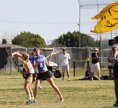 Foothill Varsity Girls lacrosse were starting to win most face-offs in the second half...