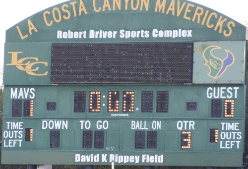 La Costa Canyon JV lacrosse went into halftime leading Foothill 1-0 Saturday evening.