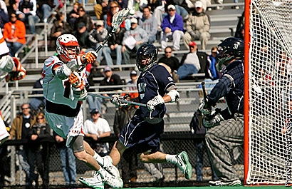 The Hobart lacrosse team ended 13 years of frustration with a dominating 15-8 victory over No. 11 Georgetown at McCooey Field on March 14.