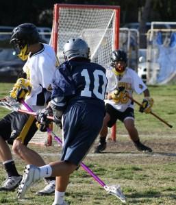 Foothill Knights JV Lacrosse Goalie Zack Schenker