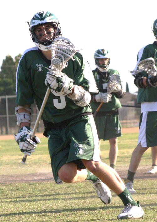 Coronado's Senior Attacker #9 Bobby Braun has been the Islanders leader all season...
