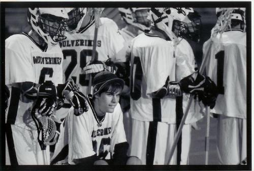 Cameron #36 watching Aliso Viejo High School Lacrosse game in 2009