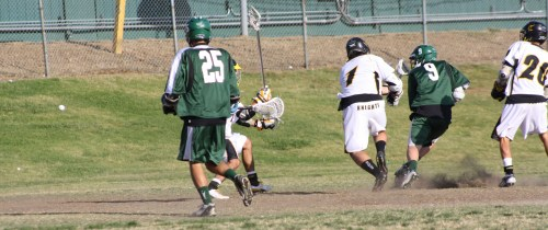 ...that he launches from 10-15 yards outside...(#9 Bobby Braun, Photo by Laxbuzz)