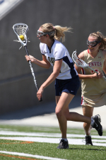Sophomore Jacklyn Taylor scored a career-high five goals in the Aggies' 16-14 upset of Denver in Friday's MPSF quarterfinal round.