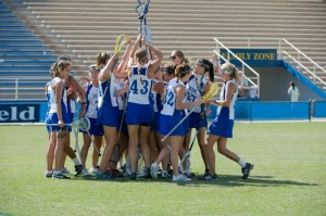 UCSB rallied to come from behind against Santa Clara to win 12-10 and capture the Western Women's Lacrosse League championship in Harder Stadium at UCSB.