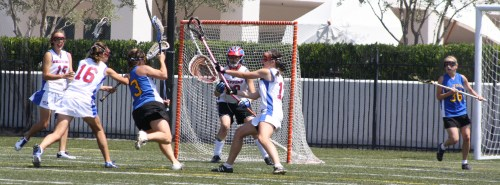 El Toro Girls Lacrosse jumped out to an early 4-1 lead against Los Alamitos in the first half of the Orange County semi-final Saturday. Photo by LaxBuzz