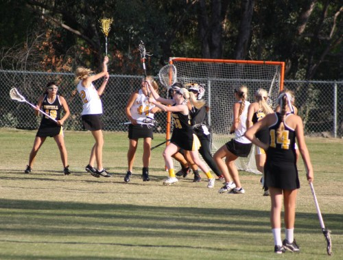 El Toro High School Girls Lacrosse in action against Foothill Monday night. Photo by LaxBuzz