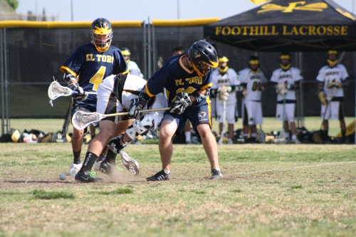 """Foothill Knights Lacrosse middie Patrick McLaughlin """"...was the difference today in the face off, getting us some key face off breaks."""" Photo by LaxBuzz"""