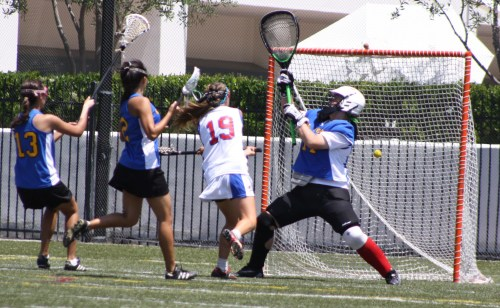 The Los Alamitos Girls Lacrosse team started to wear down El Toro in the second half Saturday....Photo by LaxBuzz