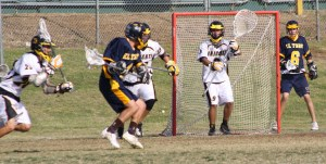 El Toro launched a barrage of shots at Foothill in the fourth quarter...(Photo by LaxBuzz)