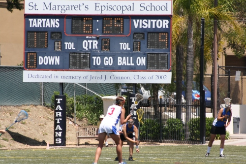 Los Alamitos Girls Lacrosse used solid defense and ball possession to hold off El Toro 11-9 in Saturday's Orange County semi-final game. They advance to Tuesday's Championship game against Foothill-Santa Ana. Photo by LaxBuzz