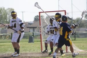 El Toro scored the first goal of game against Foothill...(Photo by LaxBuzz)
