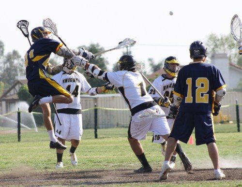 El Toro launched many great shots at Foothill goalies....(Photo by LaxBuzz)