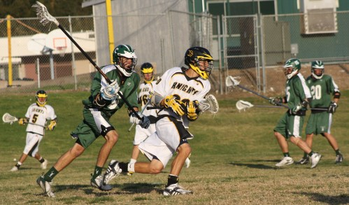 Coronado Islanders Lacrosse middie Jonny Poe in action against Foothill Knights in April 2009. Photo by LaxBuzz
