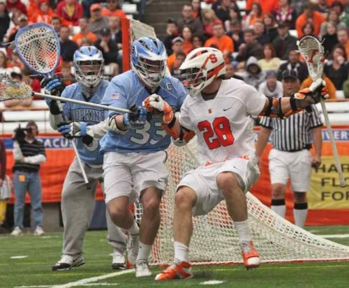 Michael Evans (Davidsonville, MD/South River), a senior on the Johns Hopkins men's lacrosse team, has been named the 2009 recipient of the William C. Schmeisser Award as the nation's top defenseman.