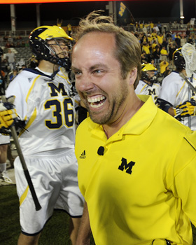 Even the usually stoic John Paul, Michigan's head coach, could not contain a smile after the Big Blue won its second straight MCLA championship on Saturday. He should be happy, especially since he and his team were part of the most important title game in the association's history.  Ryan McKee