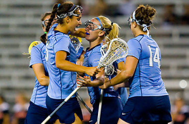 The Tar Heels upset second-seeded and undefeated Maryland, 8-7, in the semifinals Friday night to advance to their first NCAA final. North Carolina, which held the high-scoring Terrapins to their lowest scoring total of the season, needs another strong defensive effort if it's going to end Northwestern's run of four straight championships.