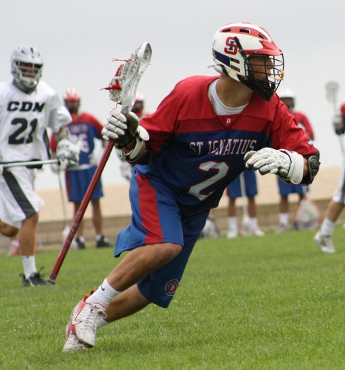 St. Ignatius Lacrosse attack Billy Mattimore scored 2 goals and had four assists against Corona del Mar Saturday. Photo by LaxBuzz
