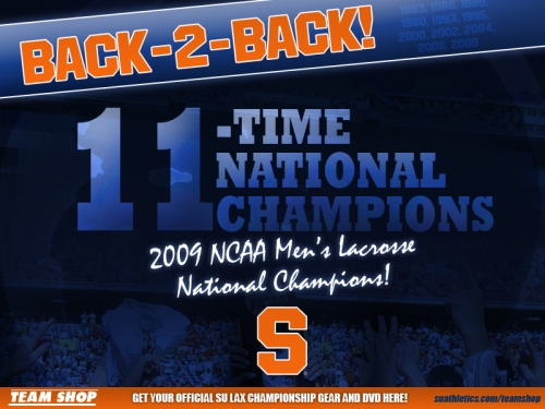 Syracuse wins 2nd title in a row