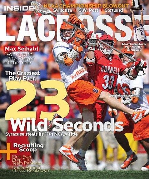 Inside Lacrosse Magazine Cover