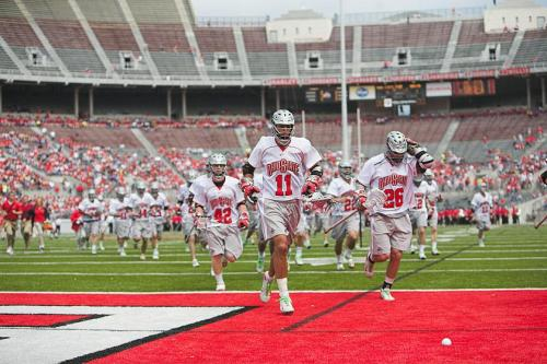 "The Ohio State men's lacrosse team will host the third-annual ""Showdown in the Shoe"" in Ohio Stadium prior to the football team's spring game, Nick Myers, Ohio State men's lacrosse head coach, announced Wednesday. Set for April 24, 2010, the lacrosse Buckeyes will take on Air Force in an ECAC Lacrosse League matchup before the football team takes the field for its intrasquad game."