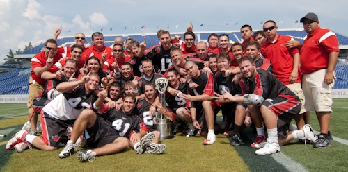 After one of the most exciting championship weekends in MLL history, the Toronto Nationals made history of their own by winning their first ever MLL Championship by a score of 10-9 over the top ranked Denver Outlaws in a thrilling performance at the Navy-Marine Corps Memorial Stadium in Annapolis on Sunday afternoon.