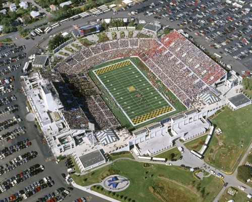 The post-renovation Navy-Marine Corps Memorial Stadium is the finest lacrosse venue in the world. The Bilderback-Moore Navy Lacrosse Hall of Fame takes visitors through the rich, 100-year history of Navy lacrosse. The playing surface, sightlines, comfortable seating, media accommodations, and sheer size of the stadium make it ideal for hosting NCAA men's lacrosse quarterfinal games. Of the 25 largest regular-season crowds in NCAA men's lacrosse history, eight were in Navy-Marine Corps Memorial Stadium. The site also played host to the 2005 Women's Lacrosse World Cup and the 2005 NCAA Women's Lacrosse Championship. Professional lacrosse has gained a foothold in Annapolis as well, with the Washington Bayhawks moving to the stadium last year. Major League Lacrosse played its championship in Annapolis in 2009, and will continue to do so through 2011.