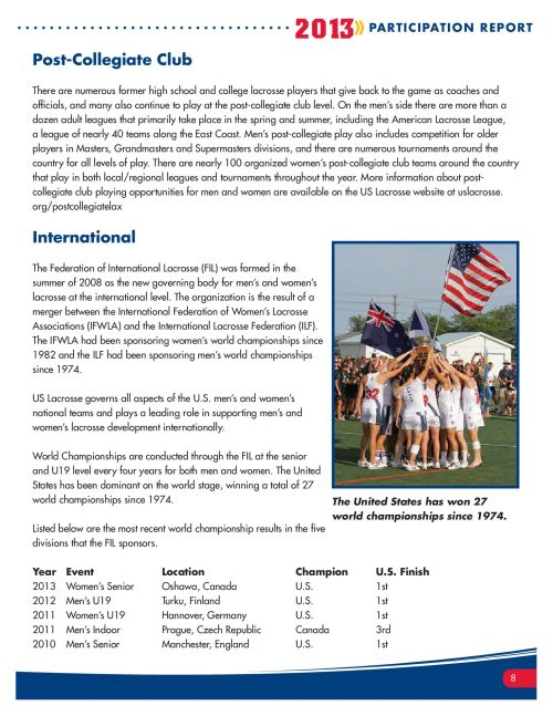 2013 Lacrosse Participation Survey Pg 8