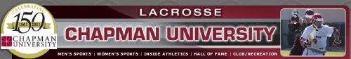 Chapman men's lacrosse banner