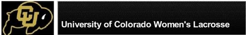 colorado women's lacrosse banner