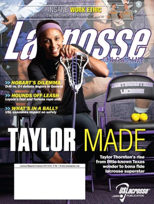 Lacrosse magazine January 2013