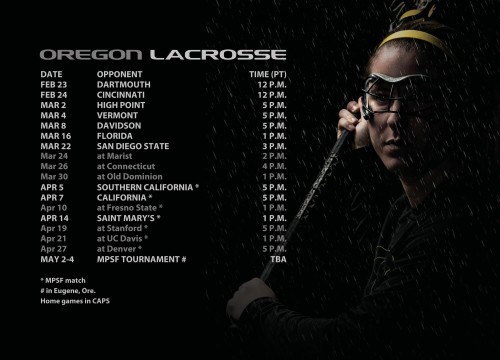Oregon Women's Lacrosse 2013 Schedule-page-001