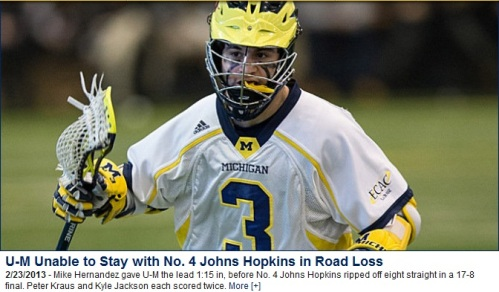 Michigan Men's Lacrosse vs Johns Hopkins