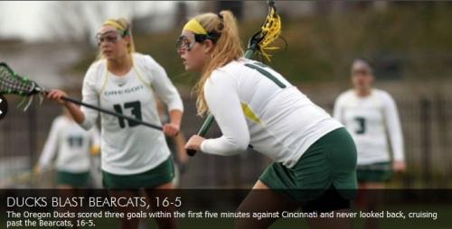 Oregon Women's Lacrosse vs Cincinnati