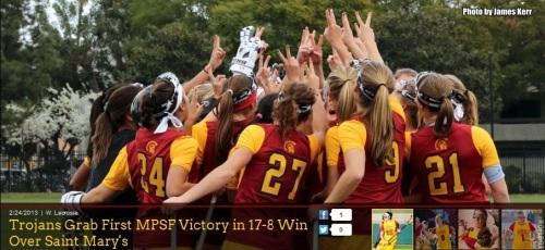 USC Women's Lacrosse vs Saint Mary's (2) Photo by James Kerr