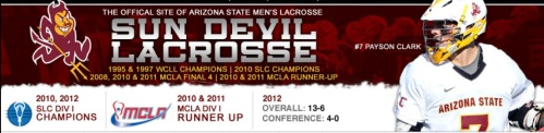 Arizona State Men's Lacrosse Banner