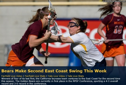 Cal Berkeley Women's Lacrosse East Coast Trip