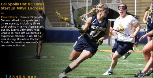 Cal Berkeley Women's Lacrosse vs UC Davis