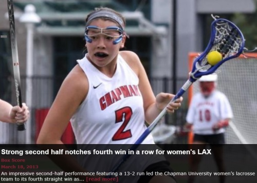 Chapman Women's Lacrosse vs Puget Sound