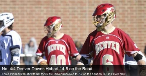 Denver Men's Lacrosse vs Hobart