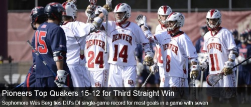 Denver Men's Lacrosse vs Penn
