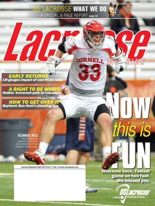 Lacrosse Magazine April 2013 Cover