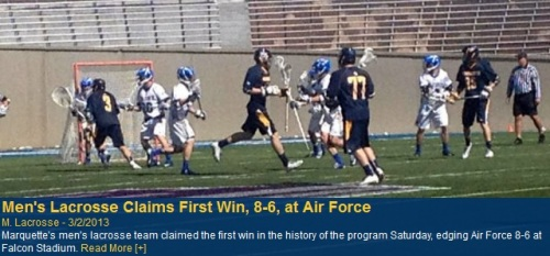 Marquette Men's Lacrosse vs Air Force