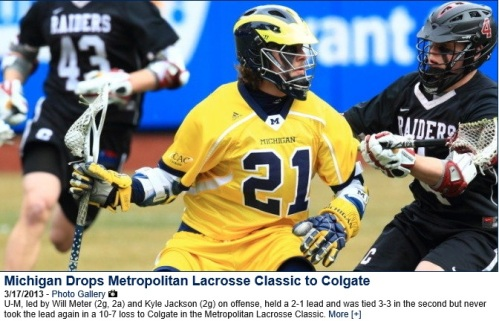Michigan Men's Lacrosse vs Colgate