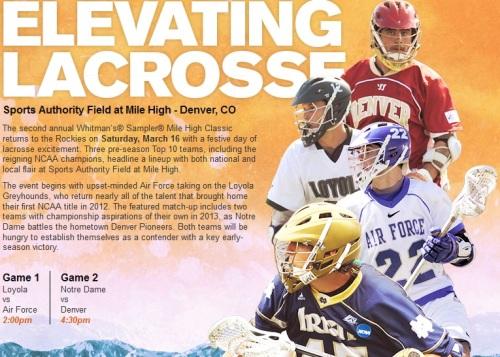 2014 Mile High Lacrosse Classic Denver Men's Lacrosse vs Notre Dame
