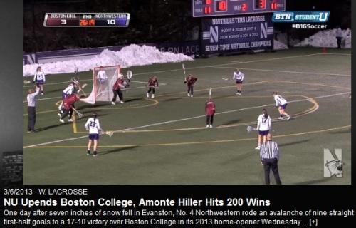 Northwestern Women's Lacrosse vs Boston College