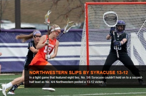 Northwestern Women's Lacrosse vs Syracuse